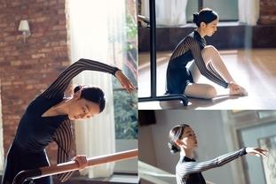 단 하나의 사랑,  신혜선 발레 연습 포착, 아름다운 곡선美
